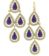 Seychelles Chandelier Earrings - Blue - $22