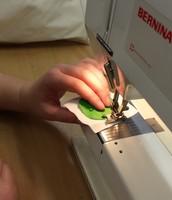 Vierkantjes vast naaien