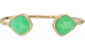 Serenity Stone bangle - gold/green - SOLD!!