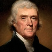 Thomas Jefferson was the third president of the United states of America.