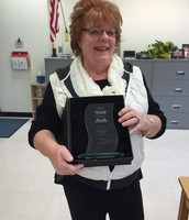 Mrs. Wylie Honored for Volunteering