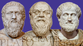 Plato, Socrates, and aristole.