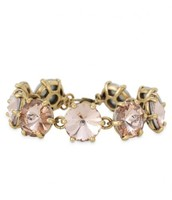 Amelie Sparkle Bracelet Peach, Reg $39, Now $20