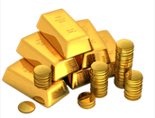 Gold Coins and Blocks