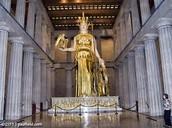 Statue in the Parthenon