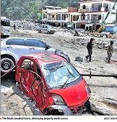 The flood wreaked havoc, destroying property worth crore