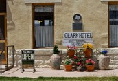 You can stay at the historic Clark Hotel!
