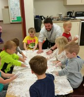 I got to play with shaving cream with Ms. Anna & Ms. Alison's class