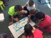 These gave us great ideas for our own map!