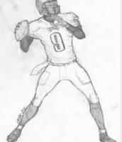 Illustration of a quarterback