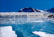Which ice sheet are on land?