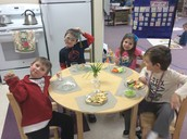 Fat Tuesday snack- children got to decide how much food to eat.