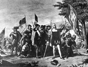 Christopher Columbus landing on Amarica