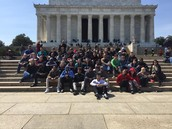 A large portion of our entire group in DC