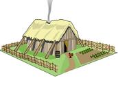 The serfs or peasants housing