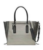 Madison Tech Bag- Black/Creme Breton Stripe