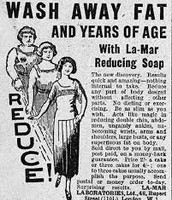 Lose Fat and Years of Age with La-Mar Reducing Soap