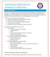MARK YOUR CALENDARS!! ARMS 1st Community Meeting