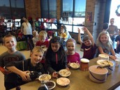 Mrs. Clinefelter's class at the Ice Cream Party