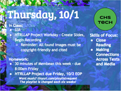 Thursday, 10/1