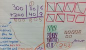 Regrouping using expanded form (addition) and base ten blocks (subtraction)