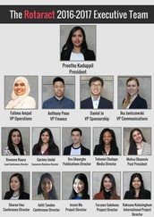 Welcome the 2015-2016 Board for the Rotaract Club of York University