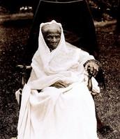 Harriet as an elderly woman.