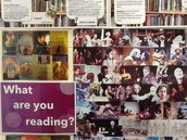 What are you reading? Displays promoting English skills