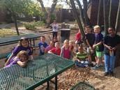 Enjoying Our Learning Garden