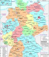 Politische Deutschlandkarte/Stand: 11.10.2012.