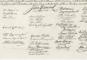 The People who signed the Deceleration of Independence