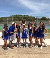 Girls tennis team...district champs!