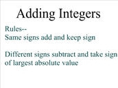 How do you add integers?