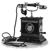 a telephone in the 1800s