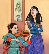 Chinese Mom Teaching Tiger Cub Violin