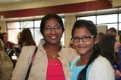 First Place Winner, Sriya Kalluri, and her mom