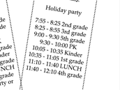 Friday December 18th schedule