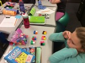 Manipulatives to show fact families and division