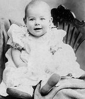 Ernest Hemingway as a baby.