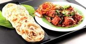 Paratha and Chicken Tikka