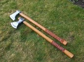 Axes as their weapons