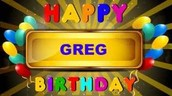 Happy Birthday to..... GREG HEIBEL