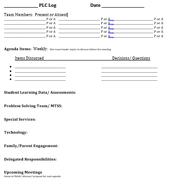 Framework/Log for Meetings