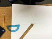 Using protractor to make 90 degree angles!