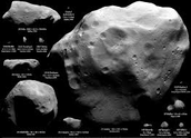 What are the size of asteroids?