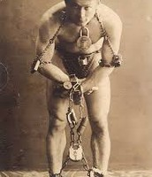 one of Houdini's famed chain traps