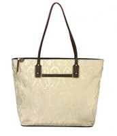 La Totale Medium Tote - Metallic Ikat Print