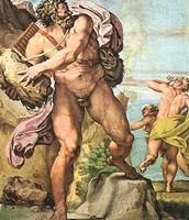 Polifemo atacando a Acis y Galatea