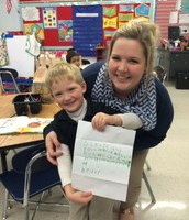 Pre K-4 student writes a letter to the Curriculum Department
