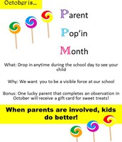 October is Parent Pop'in Month!
